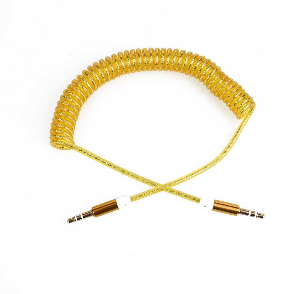 3070-3-5mm-AUX-Coiled-Cable-Jack-to-Jack-Male-Plug-Lead-PC-Car-MP3-Universal