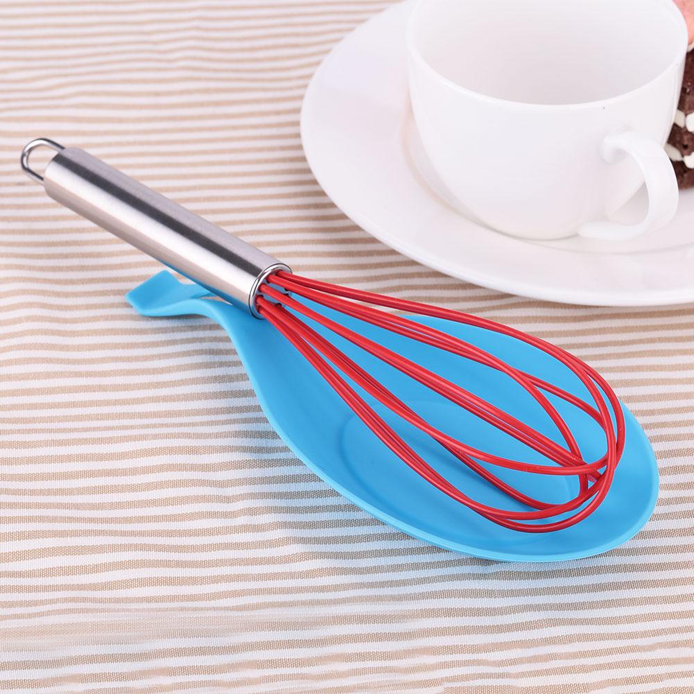 AEFD Kitchen Heat Resistant Silicone Spoon Utensil Spatula Holder ...