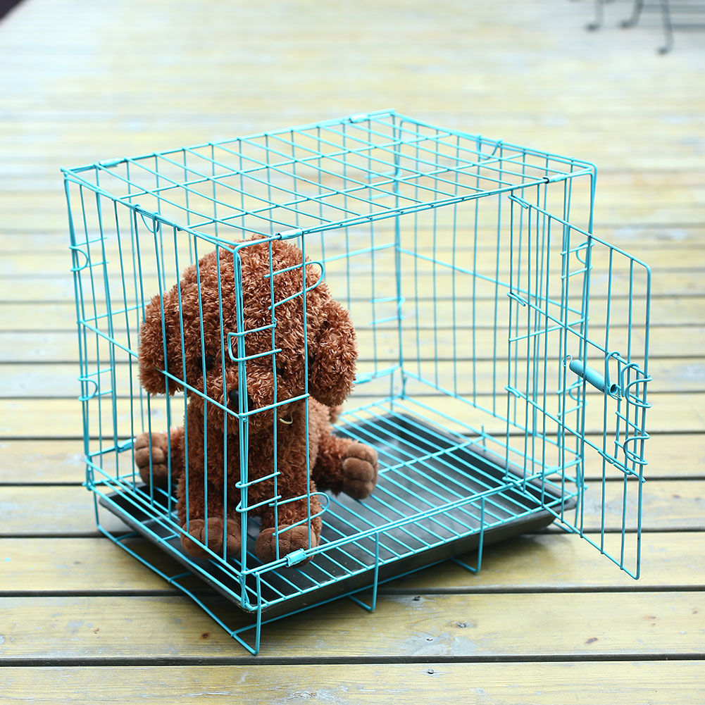 CD8DB4F Collapsible Foldable Pet Cage Iron Wire Dog Cat Iron Cage ...