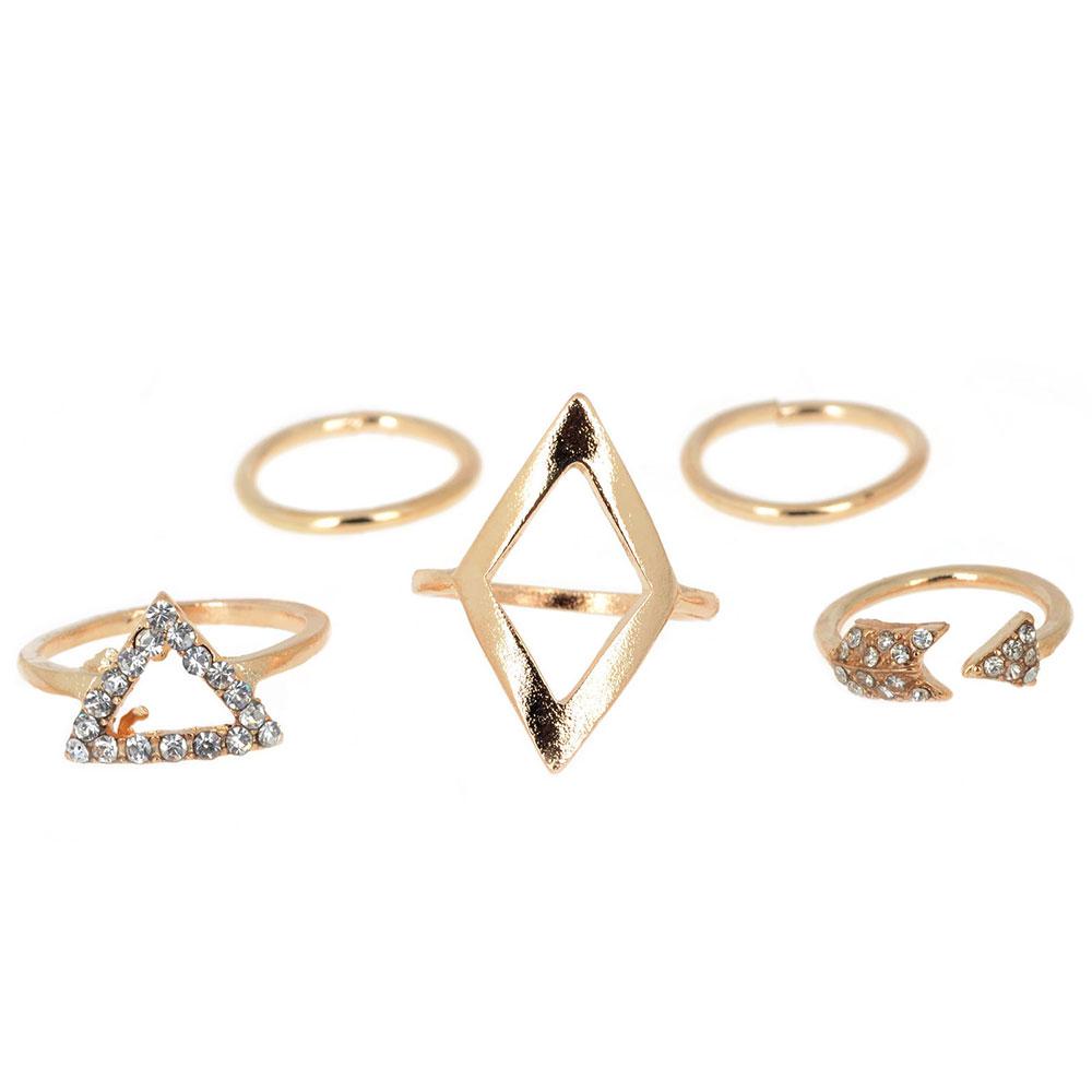 F190-5Pcs-Set-Diamond-Rhinestone-Rings-Arrows-Triangle-Knuckle-Finger-Ring-Jewel