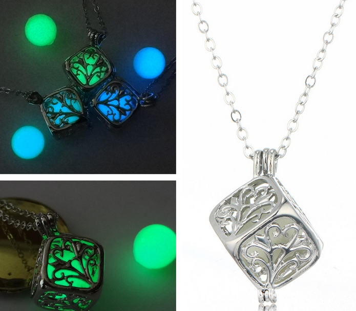 5CE9-Charms-Unisex-Mens-Necklace-Pendant-Luminous-Glow-In-The-Dark-Jewelry