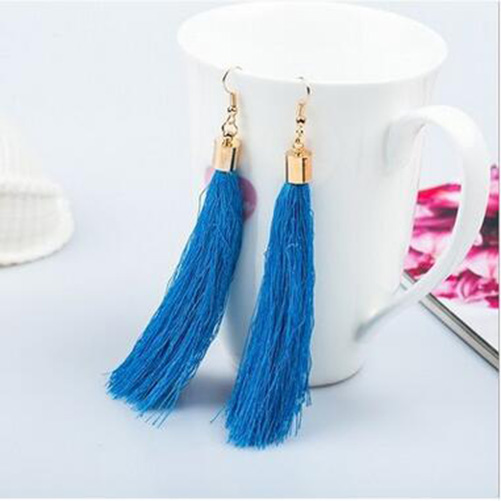 4D10-Fashion-Earrings-Women-Long-Tassel-Dangle-Earrings-New-Fabrics-Stytle