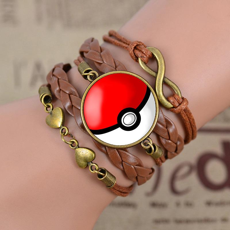 D535-For-Pokemon-Go-Time-Gem-Hand-Weaved-Alloy-Bracelet-Cute-Charm-Jewelry