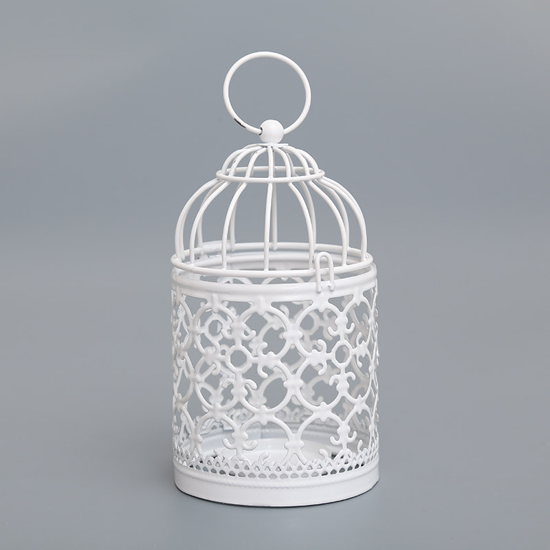 D5AA-Bird-Cage-Candleholder-Candle-Light-Holder-Candlestick-White-Metal-Art-Deco