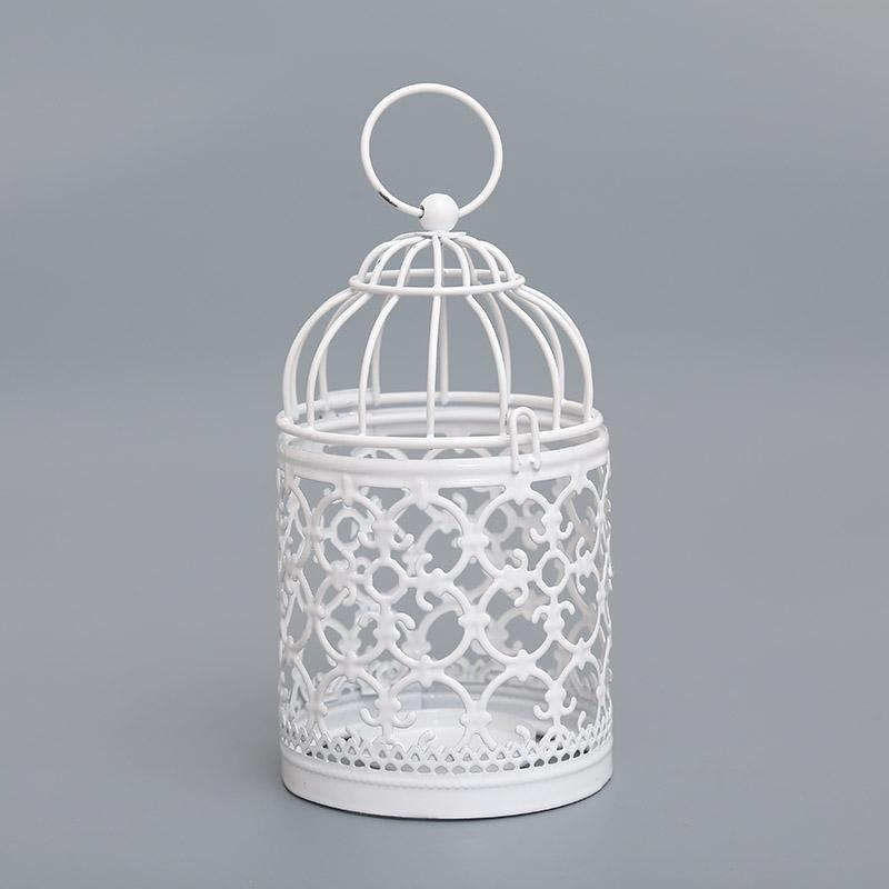 BB23-Bird-Cage-Candleholder-Candle-Light-Holder-Candlestick-White-Metal-Decor-Ho