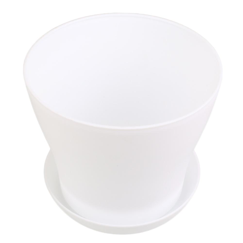 D7A9-Flower-Pots-Gloss-PP-Resin-Plant-Planter-Saucer-Tray-Home-Garden-Decor