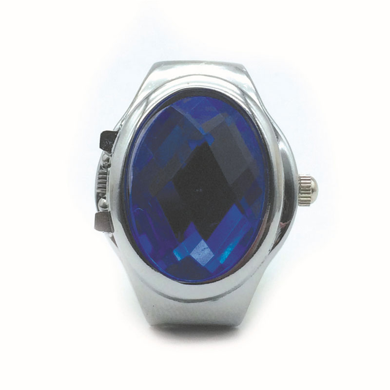 Lady-Girl-Round-Elastic-Alloy-Gemstone-Watch-Finger-Ring-Watches-Charming