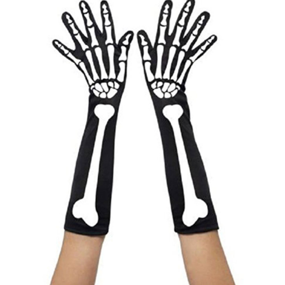 08C3-Skeleton-Stockings-Gloves-Halloween-Costume-Party-Stage-Performance-Horror