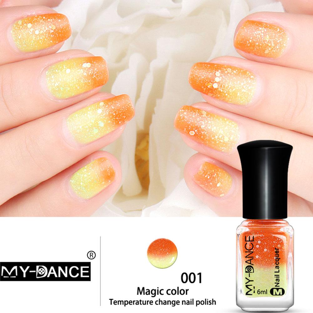 Nail Gel Polish Temperature Color Changing Nail Art Women Eco