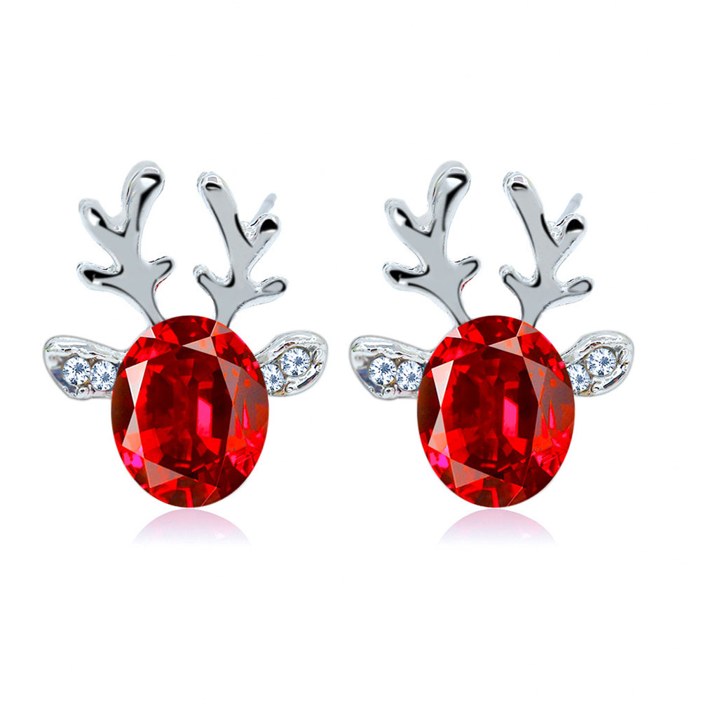 66F8-Crystal-Silver-Cute-Stud-Earrings-Gifts-Christmas-Jewelry-Ear-Studs-Party