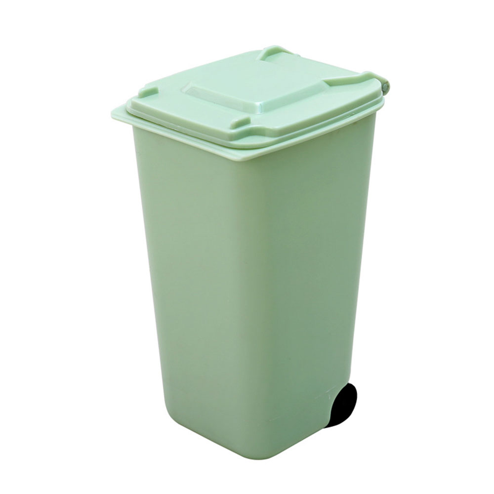 04d4 Wheelie Trash Can Storage Bin Mini Plastic 4 Color Pencil Cup