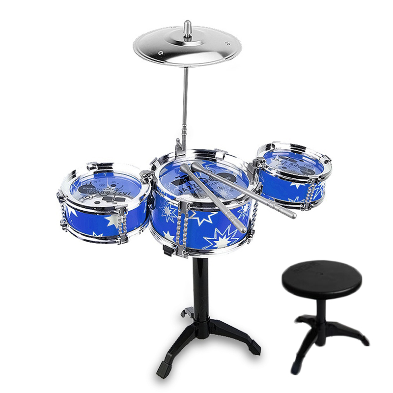AA59-Creative-Jazz-Drum-Music-with-Chair-Kids-Musical-Toys-Simulation-Drum-Set thumbnail 6