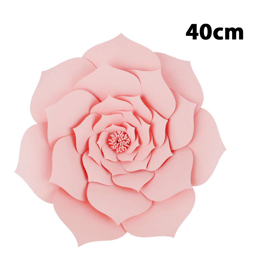 50b9 5 Color Paper Beautiful Wedding Artificial Flower Backdrop
