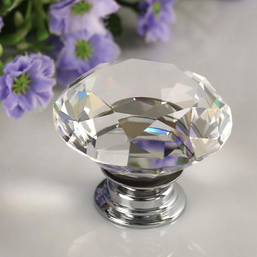 CEF2-1-4-8PCS-30mm-Crystal-Diamond-Glass-Pull-Handle-Drawer-Cupboard-Door-Knob