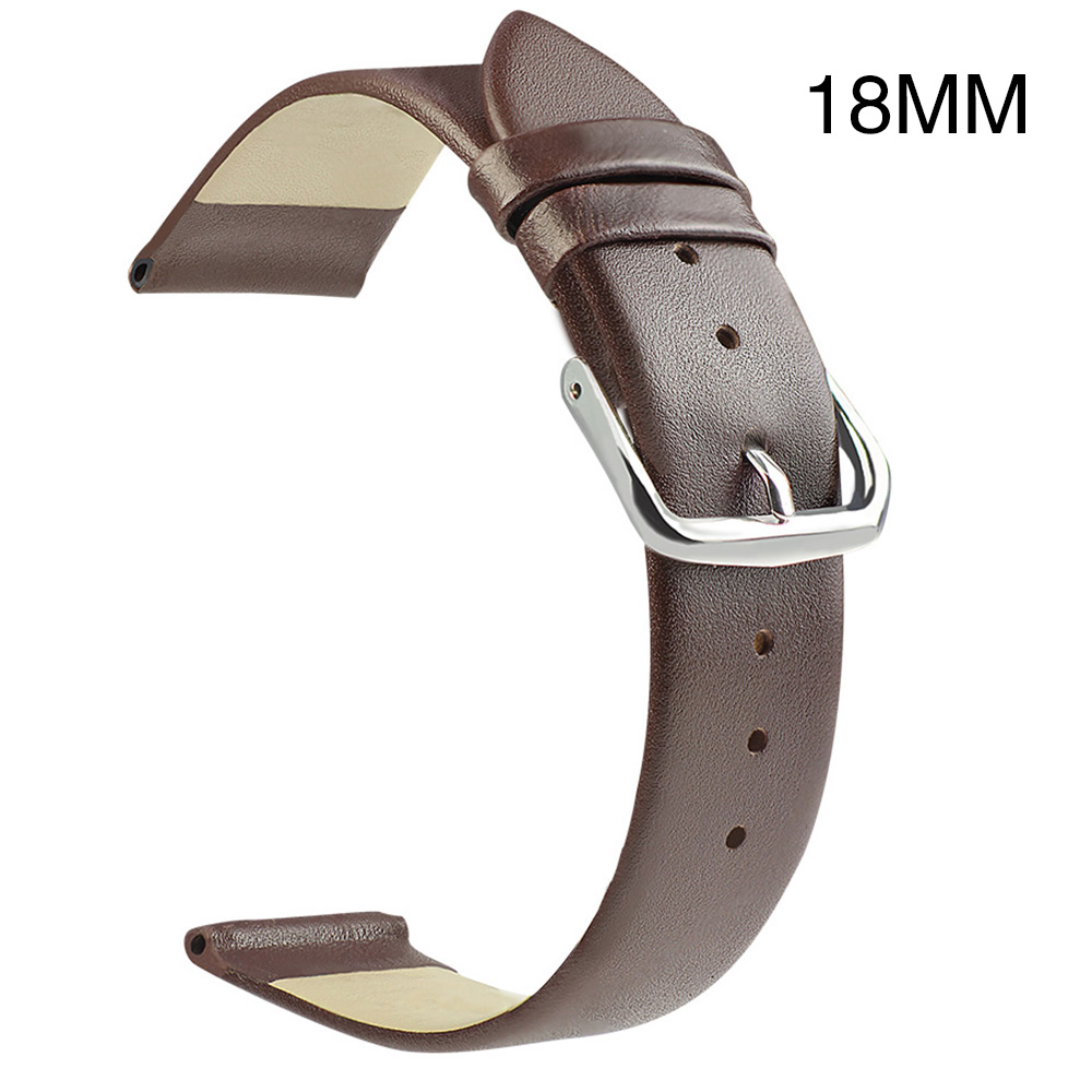 4443-Genuine-Leather-Cowhide-Watch-Strap-Wrist-Watch-Band-Replacement-18-20-22mm miniature 8