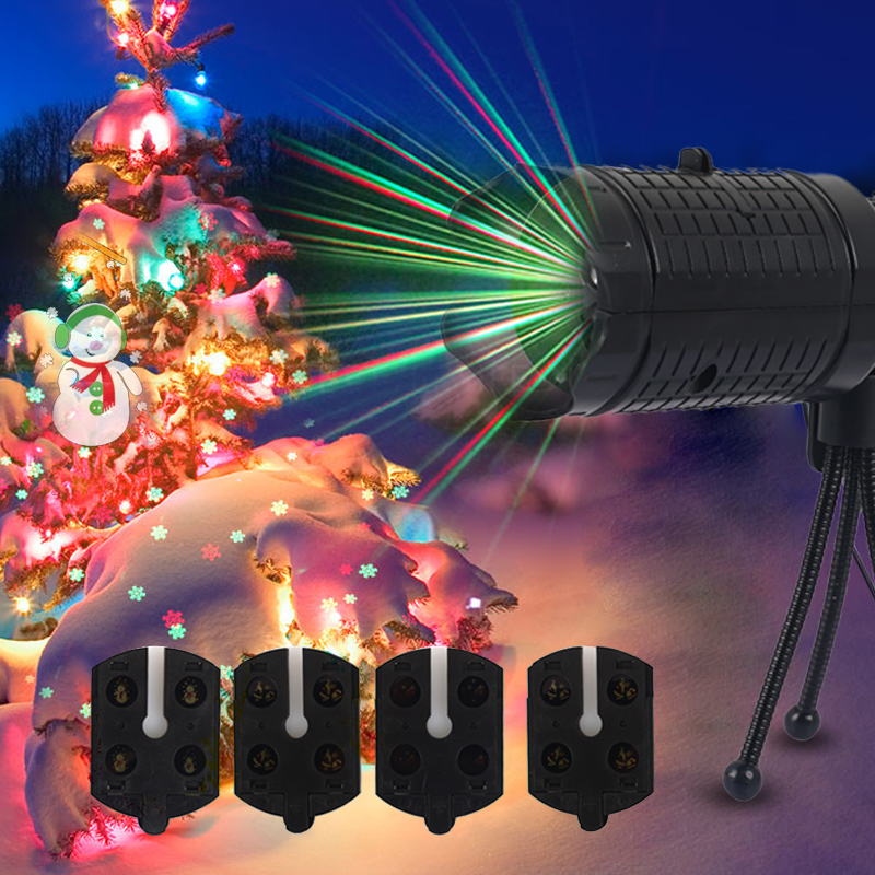 led halloween xmas projector lights moving christmas landscape lamp