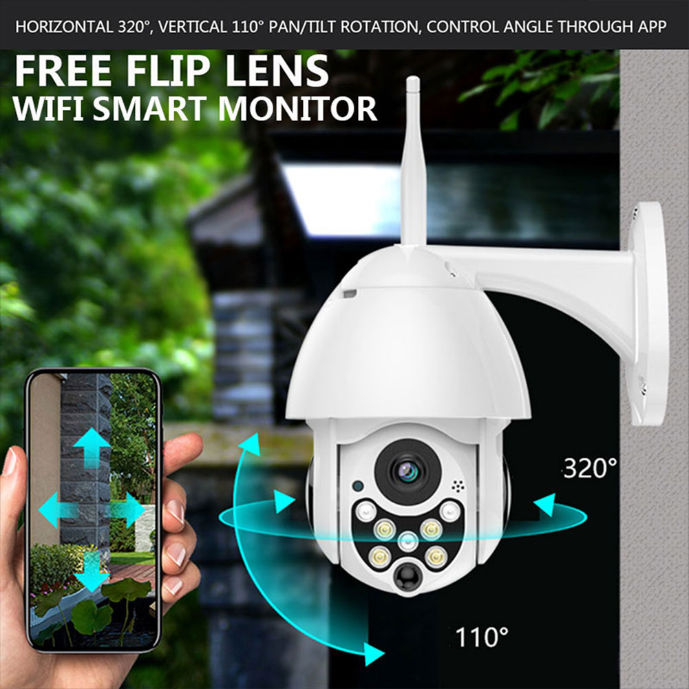 Details about 99A3 PTZ Wifi Security Camera Two-Way Audio Monitor Camera  APP Rotation