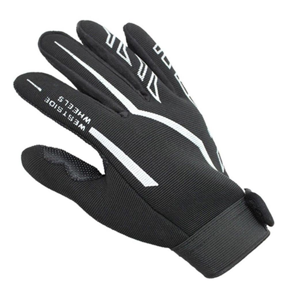 Fashion Mens Full Finger Sport Gloves Exercise Black
