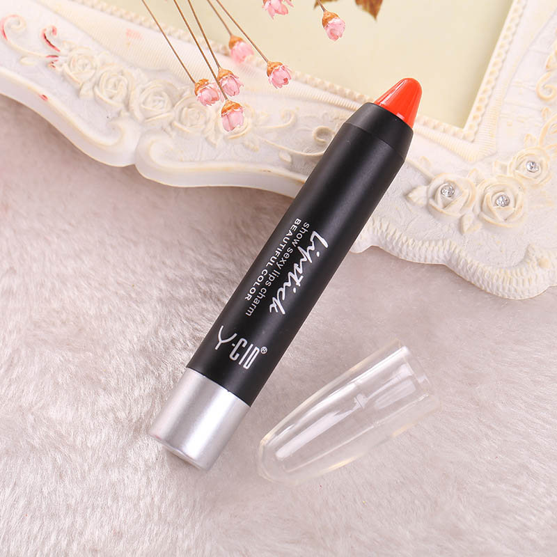 8DFF-Fashion-Women-Waterproof-Beauty-Soft-Crayon-Lipstick-Lip-Gloss-Makeup