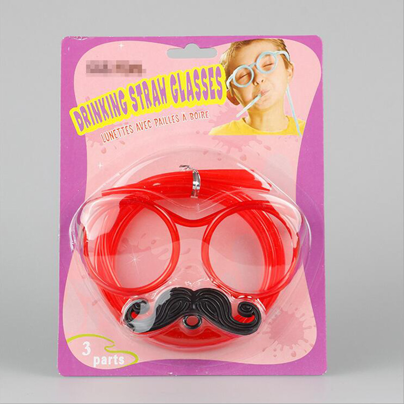 78F8-Creative-Multicolors-Moustache-Drinking-Straw-Eyeglass-Shaped-Frame-Prop