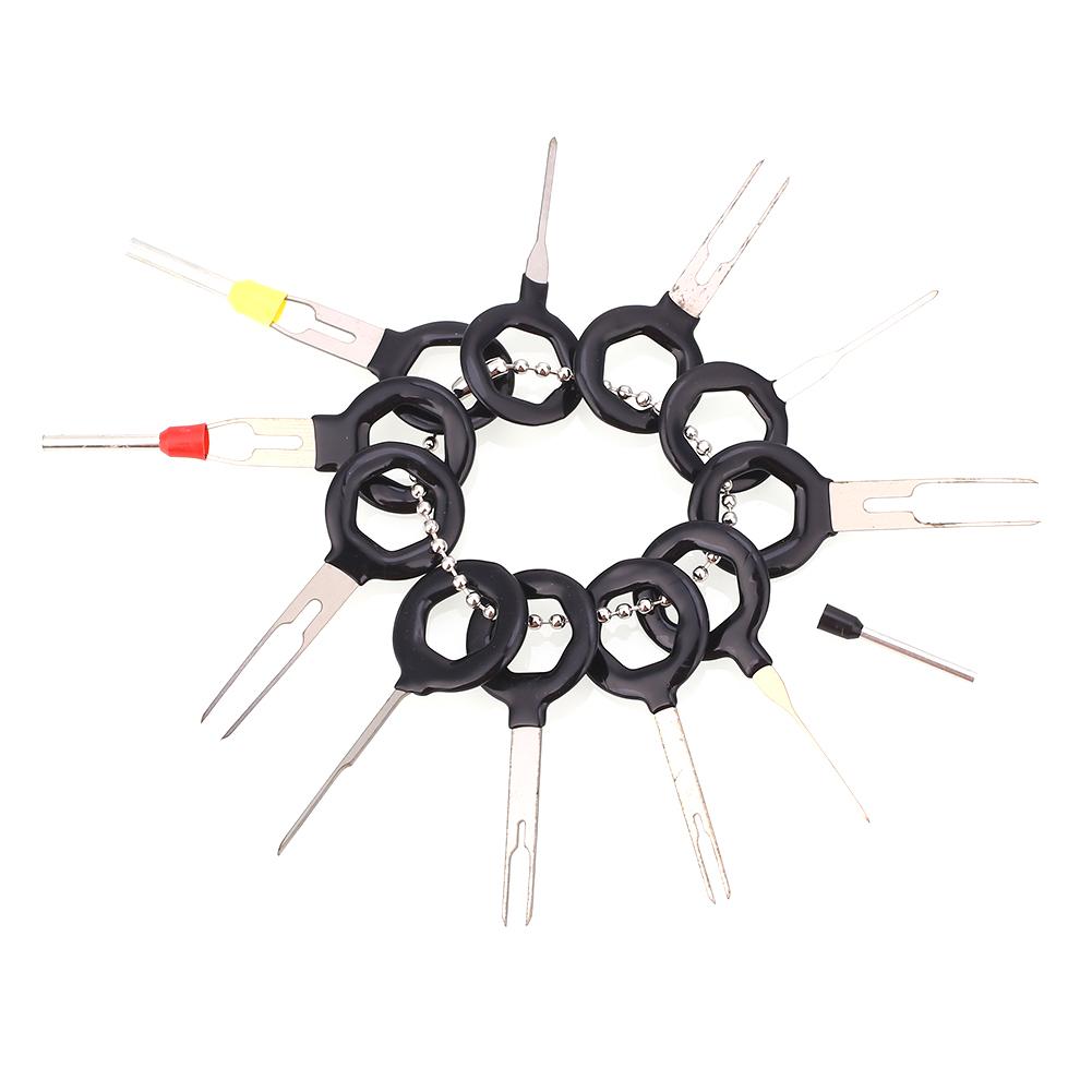 7DE4 604E 11pcs Car Cable Line Terminal Removal Tools