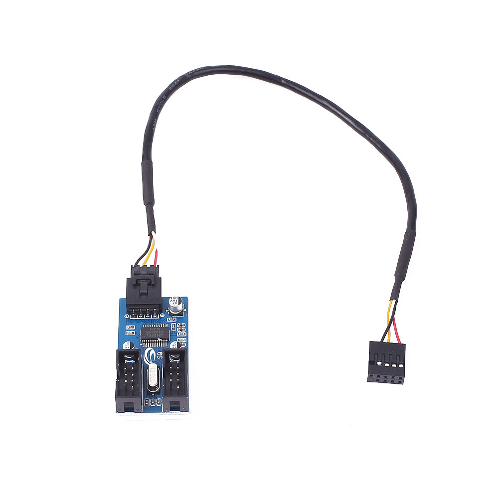 9CE6 Motherboard USB 9Pin Interface Header Splitter 1 to 2