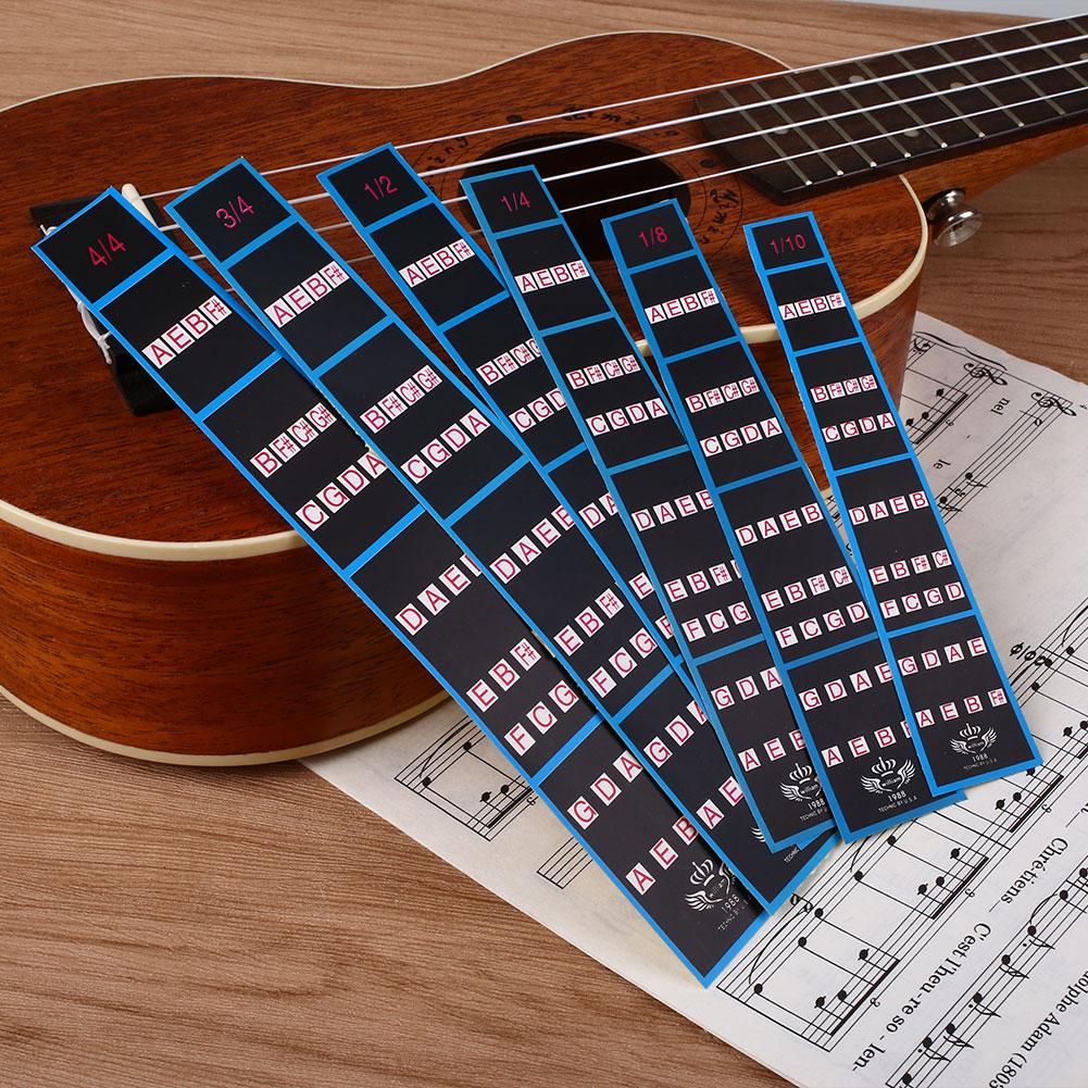 E021 Praxis  Griffbrett Für  6Pcs  Sticker  Chart  Violine Geige Marker Guide
