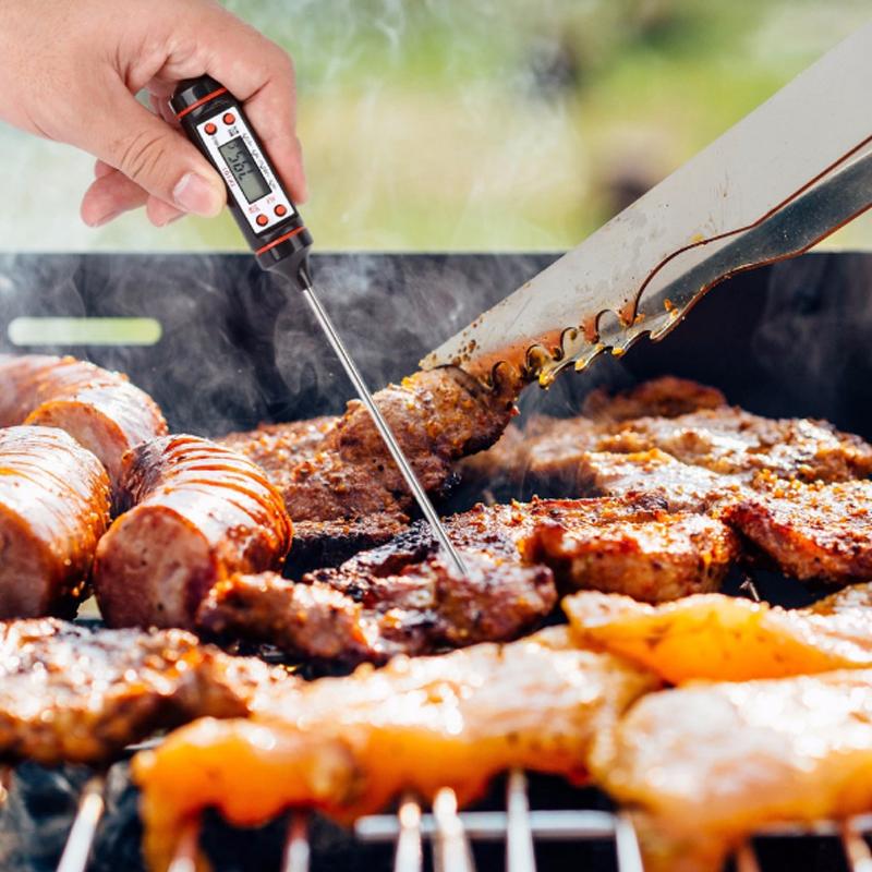 3FAB Digitalthermometer  Elektrogrill Für  Speisen  Fleisch  Fleisch  Speisen