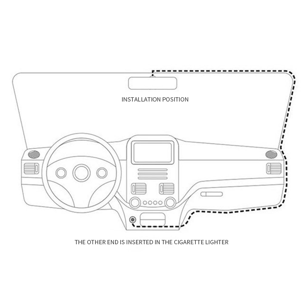 7'' HD 1080p Dual Lens Car Camera Vehicle Rearview Mirror