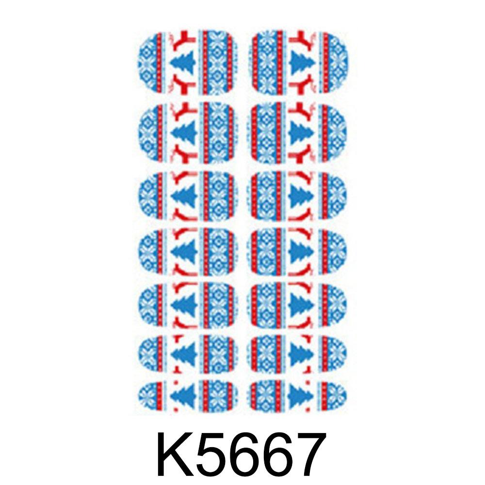 C02B-14Pcs-Set-Christmas-Nail-Art-Sticker-Fashion-Personalized-Decal-DIY-Ornamen