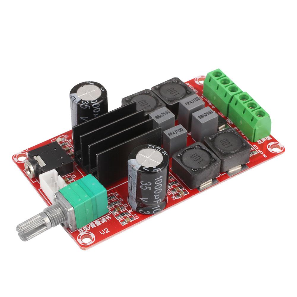 1Pc TPA3116D2 2x50W DC24V Dual-Channel Stereo Audio Power Amplifier Board
