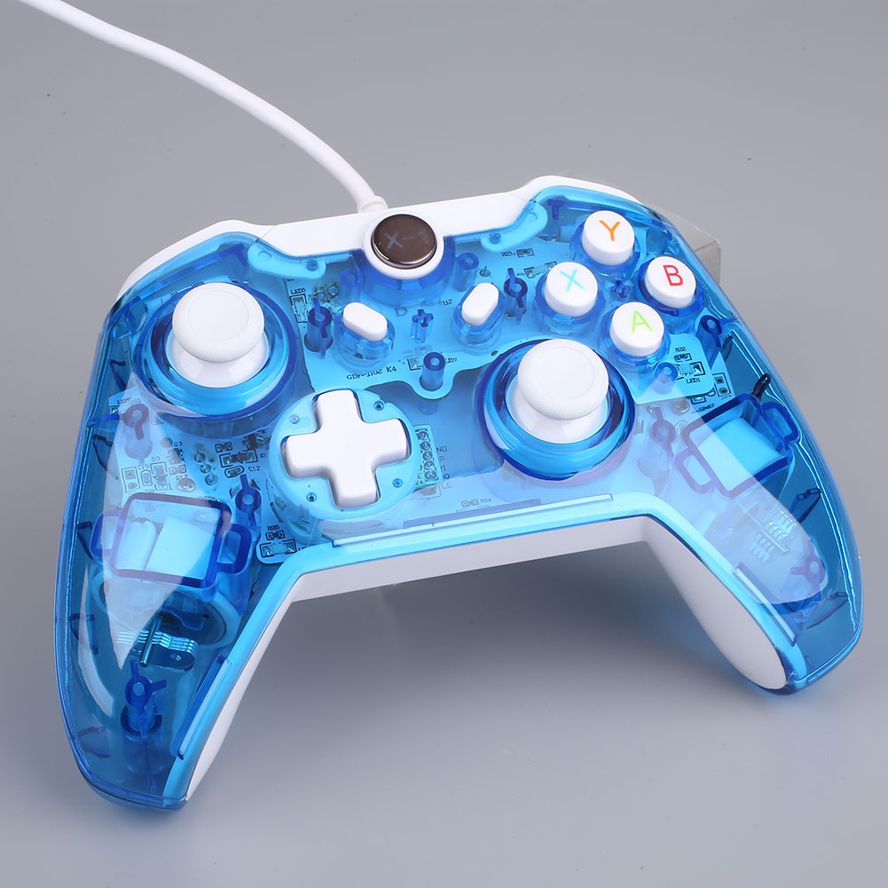 AD3D Wired Double Vibration Flash Light Game Gamepads For Microsoft ...