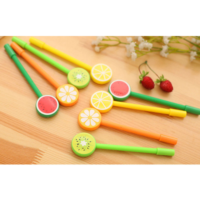 Details about EDD1 ABS Needle Type 0 38MM Small Fresh Fruit Lollipop  Neutral Pen Office Gift