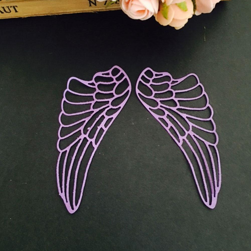 Steel Pair Angel Wings Cutting Die Cutter Handmade Stencil Embossing Card Tool