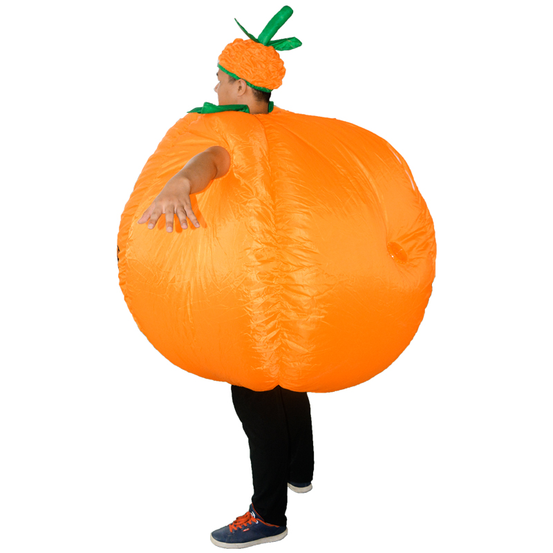 Details about Adult Inflatable Pumpkin Suit Night Party Fancy Dress  Halloween Costume Outfit