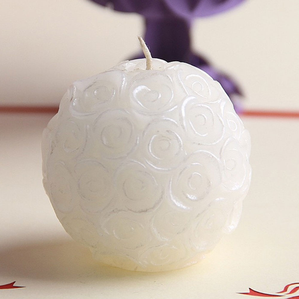 Romantic 3D Rose Ball Candle Decorative Elegant Wax Home Wedding Decor