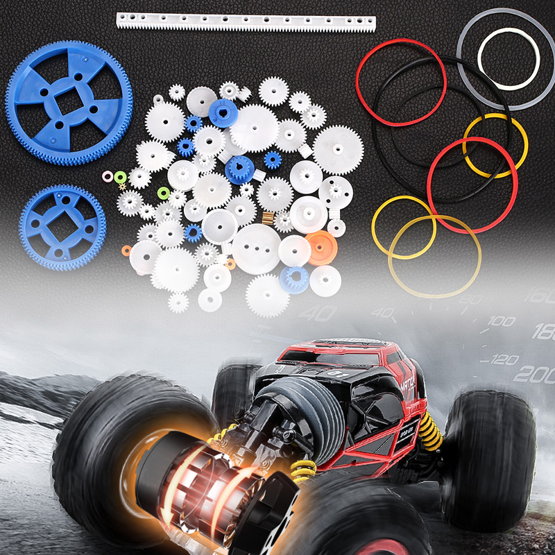 01C2 Plastic Gear Cog Wheel Student Toys Toy Motor Create Gearbox Shaft