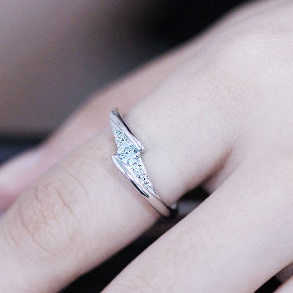 CD82-Fashion-Simple-Jewelry-925-Sterling-Silver-Ring-Mouth-Opening-For-Couples