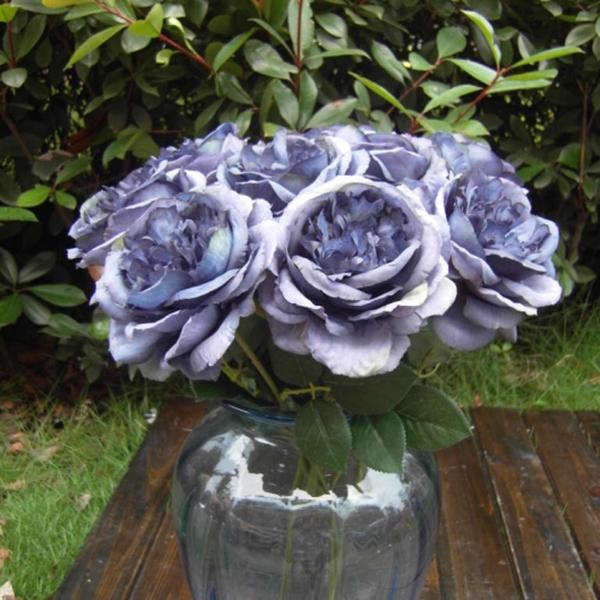 9376-Artificial-Silk-Blooming-Rose-Flower-Leaf-Bridal-Bouquet-Garden-Decor-DIY