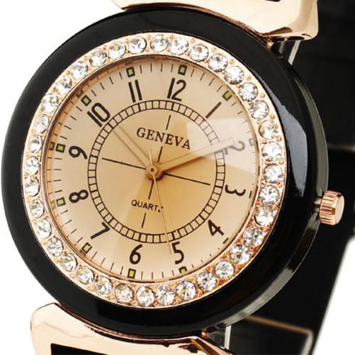 5B31-New-Geneva-Black-Women-039-s-Rhinestone-Silicone-Strap-Band-Quartz-Wrist-Watch