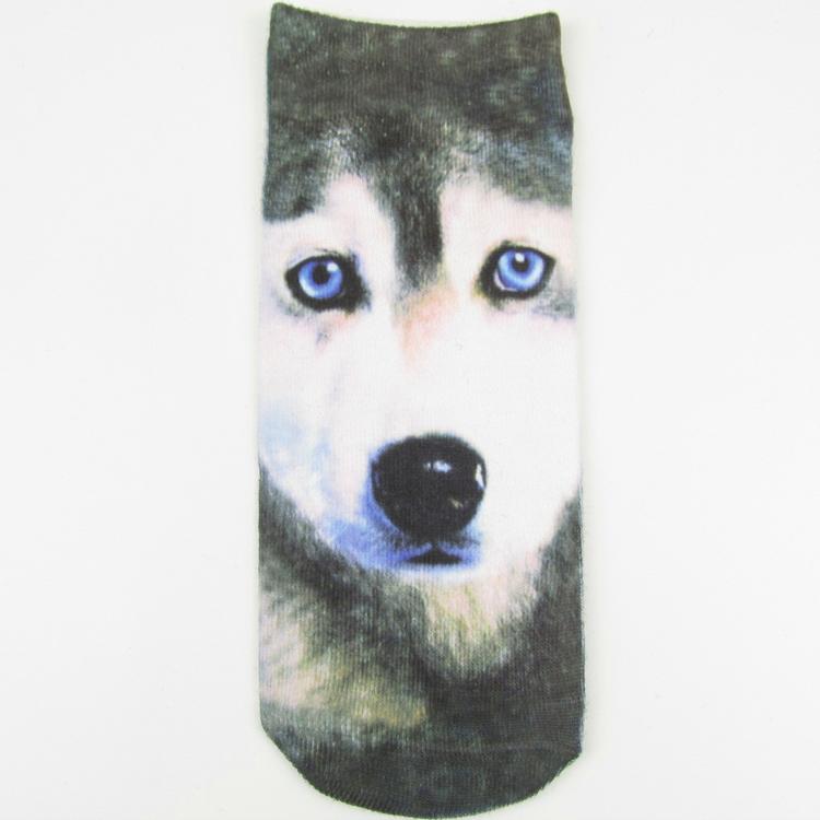 62C9-New-Women-Unisex-Stylish-Novel-3D-Print-Cotton-Comfy-Floral-Ankle-Socks