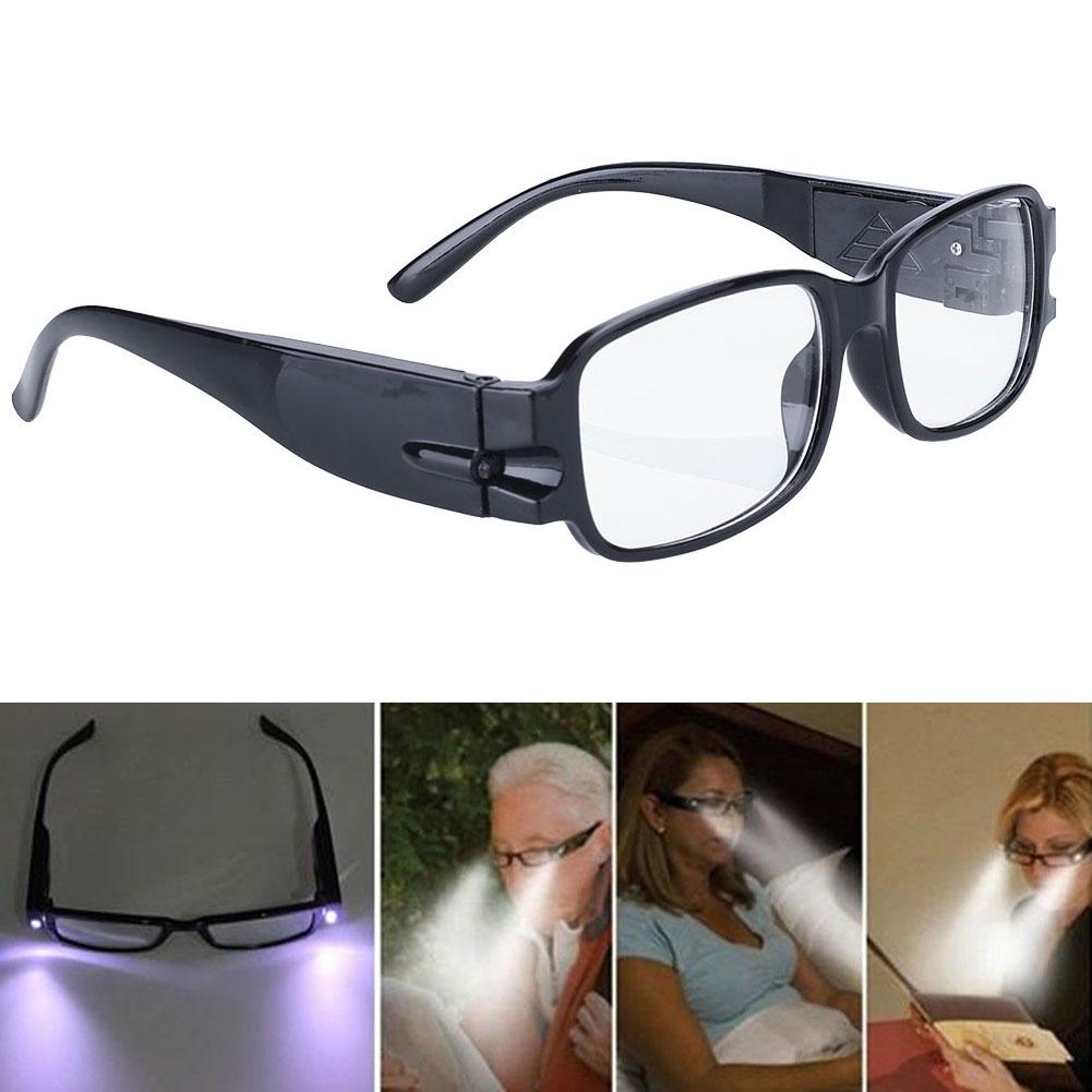 D638-Rimmed-Reading-Eye-Glasses-Eyeglasses-Spectacal-LED-Light-Black-Portable