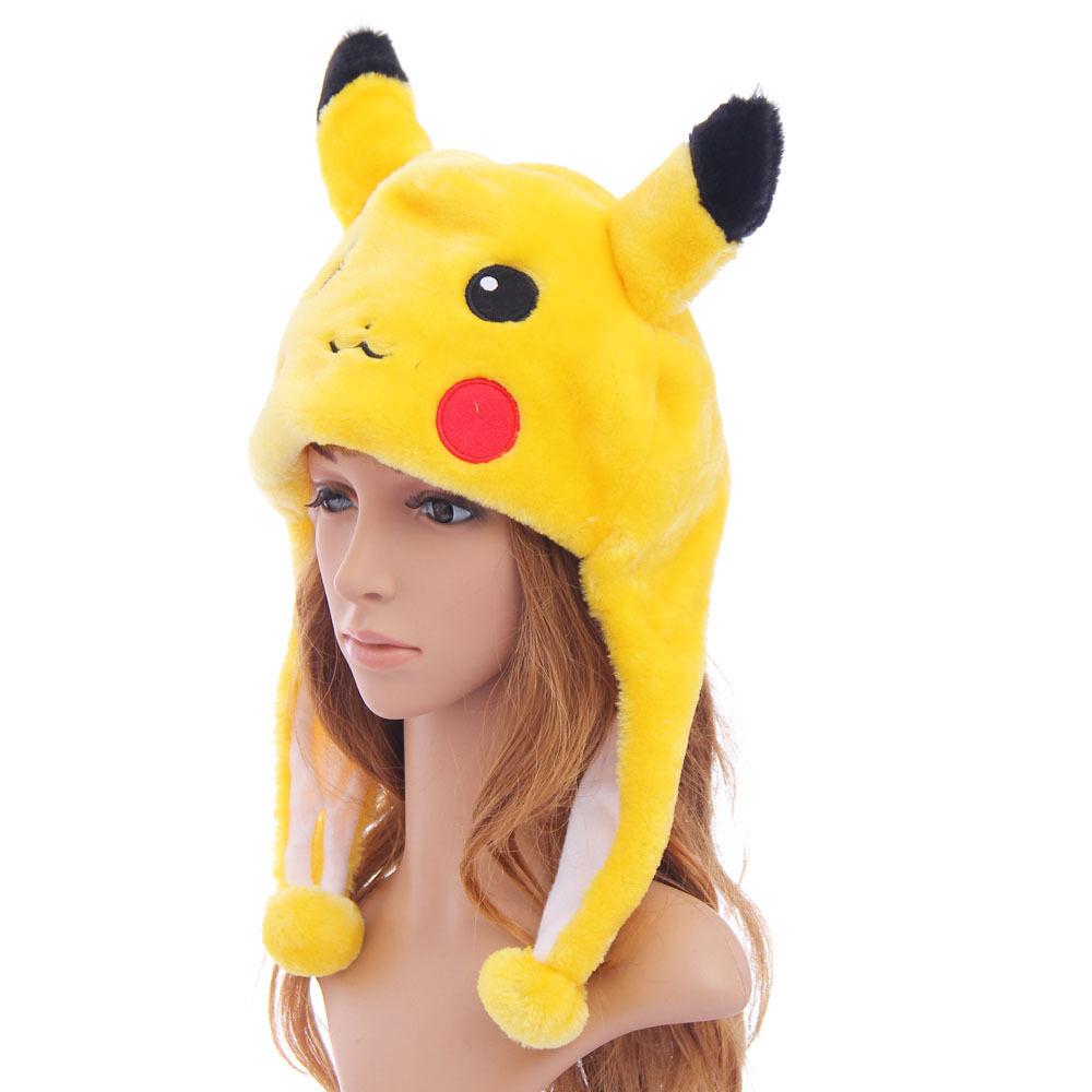 0DEC-Unisex-Men-Fancy-Pokemon-Pikachu-Warmer-Costume-Cartoon-Cap-Hat-Headwear