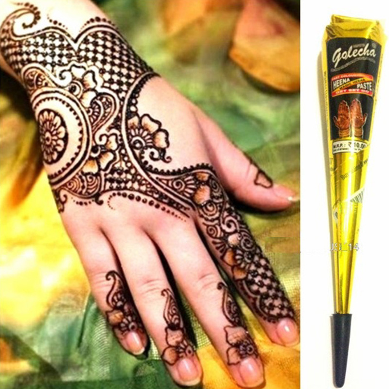 636c Waterproof Paint Indian Tattoo Henna Paste For Body Drawing