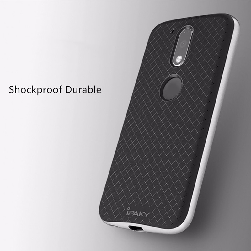 6BB4-ipaky-Anti-skid-Chequer-PC-Back-Case-Cases-For-Motorola-Moto-G4-G4-Plus