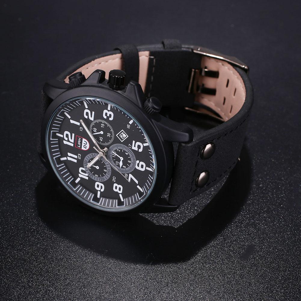 ABCB-Fashion-Men-039-s-Luxury-Military-Leather-Waterproof-Date-Quartz-Wrist-Watch