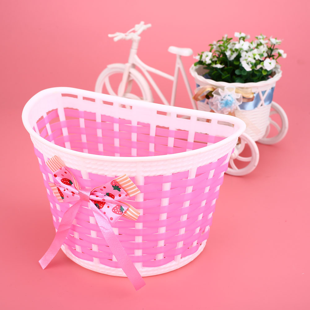 42C6-Outdoor-Bicycle-Bags-Panniers-Bike-Bowknot-Front-Basket-For-Children-Girl