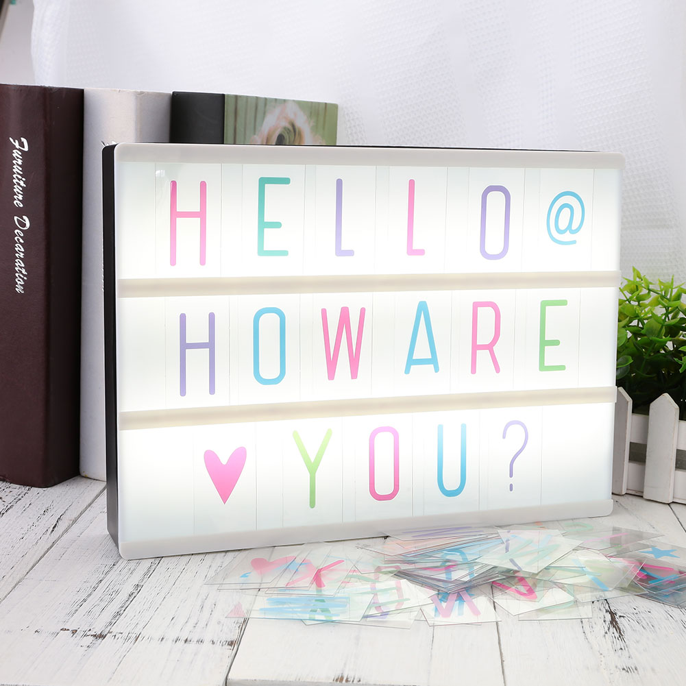 A0A4-85pcs-Replacement-A4-Light-Up-Box-Letters-Cards-Sign-LED-Cinematic-Gift