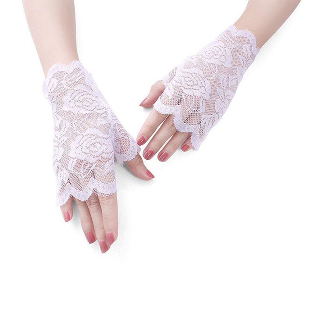 D836-Goth-Party-Sexy-Women-Lady-Lace-Gloves-Mittens-Fingerless-Marketable-Black