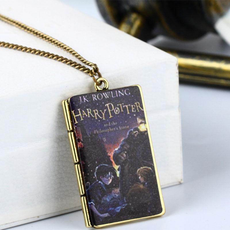 857C-Harry-Potter-Necklace-Pendants-Choker-Tiny-Notebook-Jewellry-Decoration